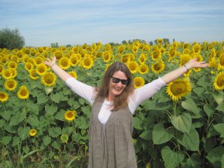 Happiness is a field of sunflowers!